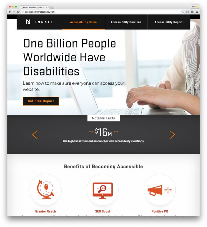 Screenshot - Innate Accessibility Site
