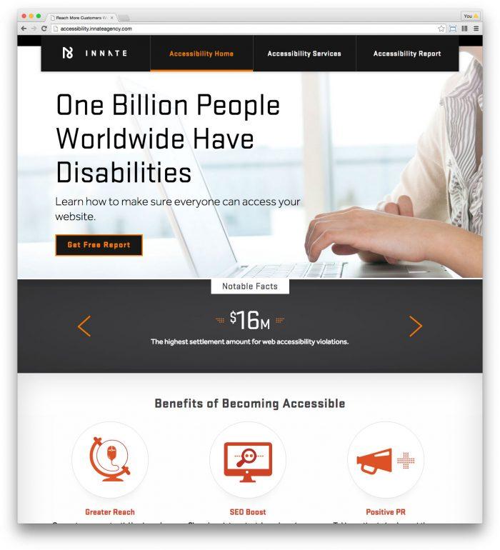Screenshot - Innate Accessibility Site